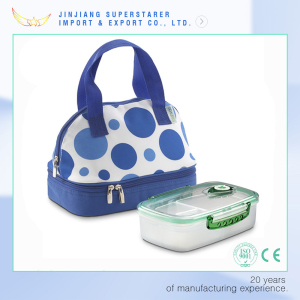 Blue DOT Eco-Friendly Insulated Picnic Lunch Bag