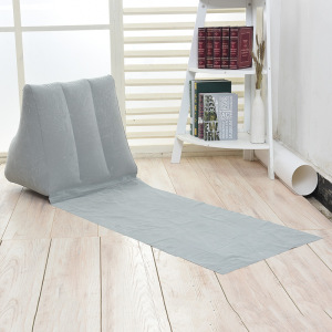 Gray Color PVC Flocked Inflatable Triangle Cushion Seat