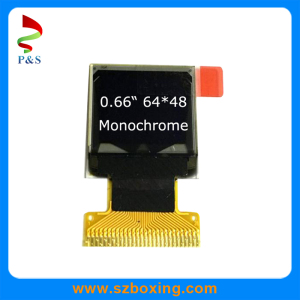 0.66inch Mono OLED 64*48, White Color, 26pins