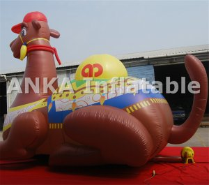 20FT High Big Inflatable Advertising Cartoon Camel Character