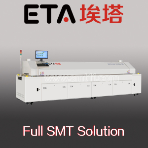 Large Size 8 Zones Hot Air SMT Reflow Oven