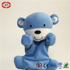 Bear Blue Adorable Emotion Talk with Baby Funny Hand Puppet