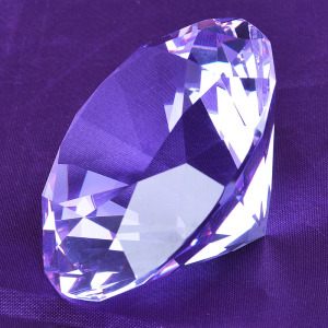 Purple Gems Various Colored Crystal Diamonds for Wedding Table Decoration