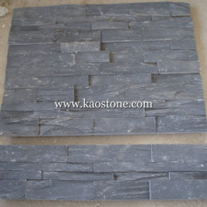 High Quality Black Cultural Stone for Wall Cladding