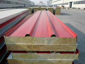 Steel Mineral Wool Panel for Roofing, Wall Panel, PPGI Sheet